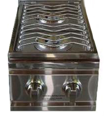Side Burner, Stainless Steel Double, LED lighted controls