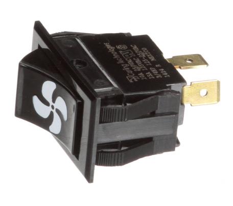 Switch, Rocker, for fan, black  (DGRSC or RJGR)