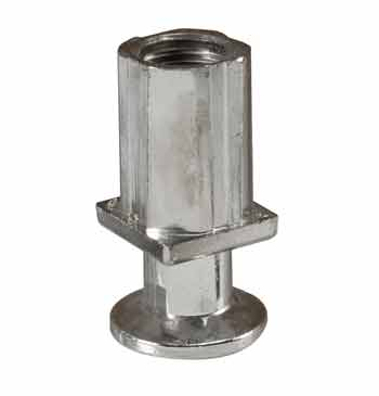 Foot for Jade countertop broilers (feet), flanged, 1 inch outside diameter tube