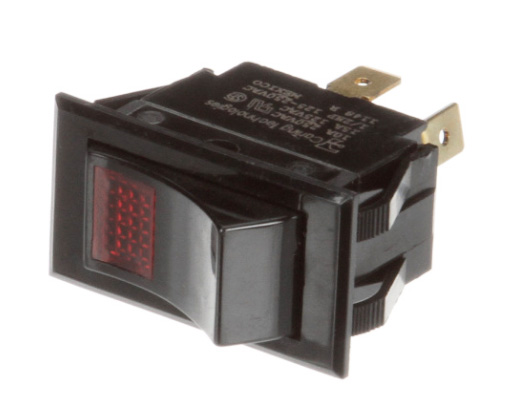 Switch, Rocker, power switch w/red light (DGR or DGRC series, early series)