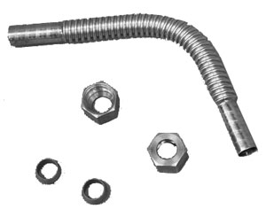 Gas Flex Tube Kit for Safety Valve #2 or #3, Dynasty/Jade Residential (installation kit)